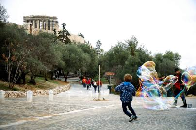 bubble parade athens